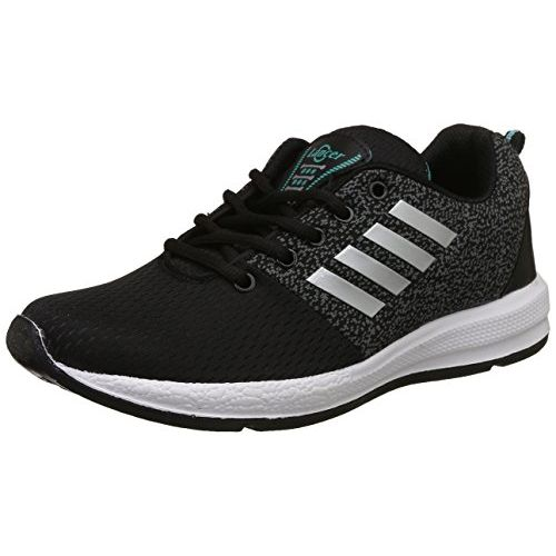 Lancer Men's Black,Green Running Shoes-8 UK/India (42 EU) (INDUS-12BLK-SGRN-8)