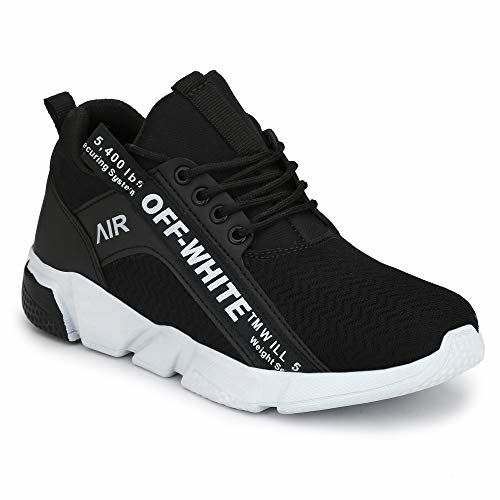INSTYLE Men Black Fashion Outdoor Canvas Casual Light Weight Lace-up Evening Walk Running Shoe