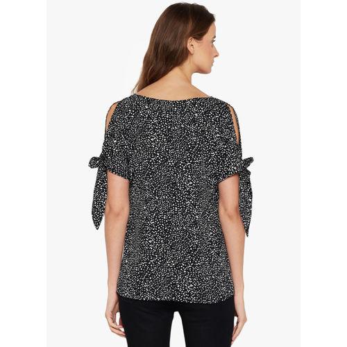 Femella Black Printed Top