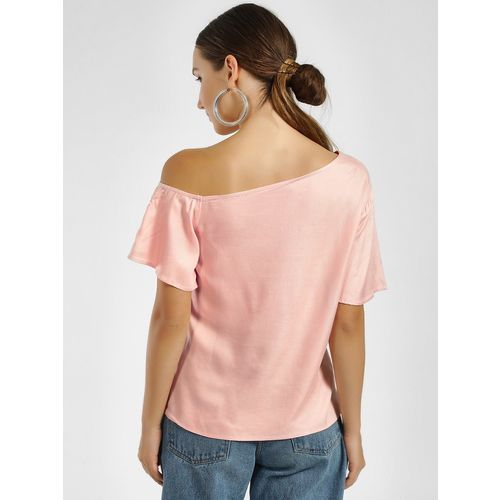 Femella Casual 3/4th Sleeve Embroidered Women's Pink Top