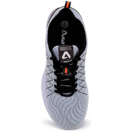 Avant Grey Mesh Lace Up Running Shoes