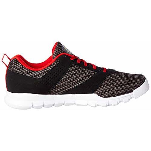 Reebok Men's Ash Grey/Black/Red Rush Running Shoes-10 UK/India (44.5 EU)(11 US) (Breeze Run Lp)