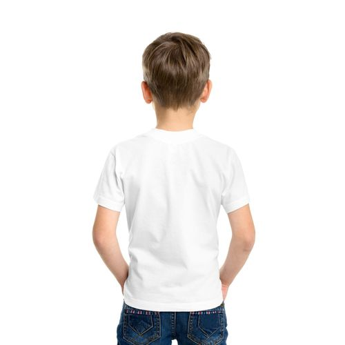 DOUBLE F ROUND NECK HALF SLEEVE WHITE COLOR MERRY CHRISTMAS PRINTED T-SHIRT FOR BOYS