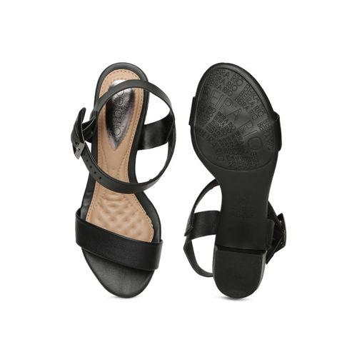 BEIRA RIO Women Black Solid Heeled Sandals