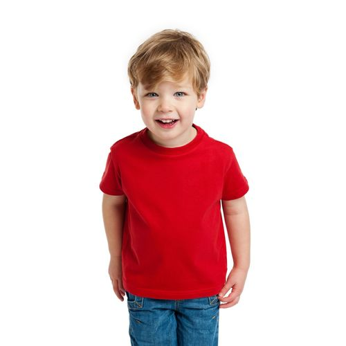 DOUBLE F ROUND NECK HALF SLEEVE RED COLOR PLAIN T-SHIRT FOR BOYS
