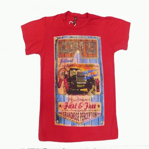 Stride Jr.-Red Party Wear Round Neck Tshirt