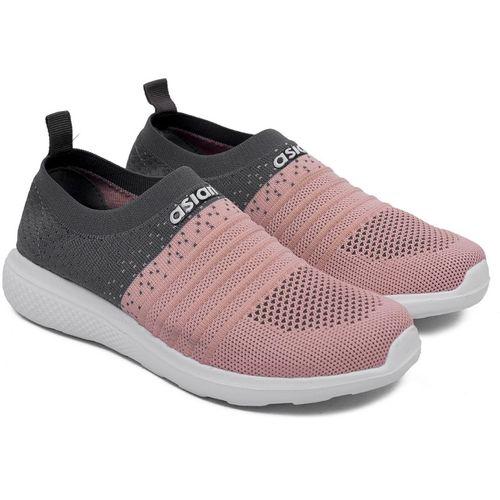 Asian Running Shoes For Women(Grey, Pink)