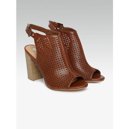 Carlton London Women Brown Solid Peep Toes