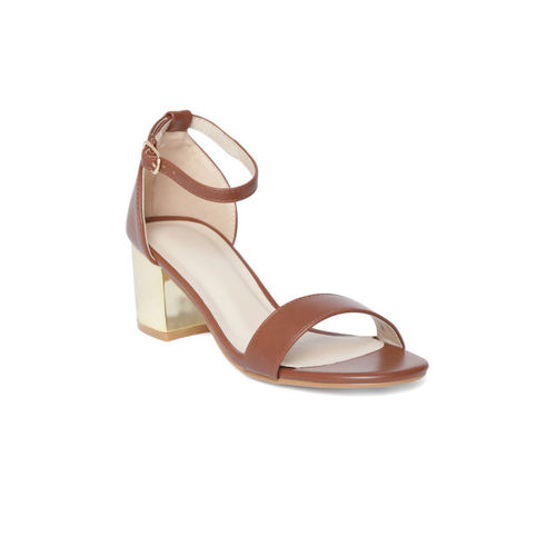 Van Heusen Women Brown Solid Block Heels