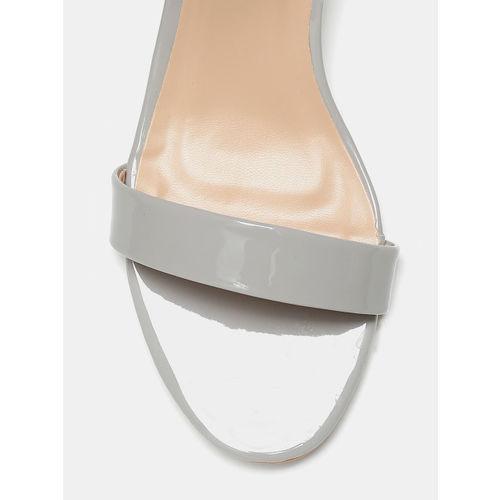 Mast & Harbour Women Grey Solid Open Toe Heels