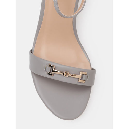 Mast & Harbour Women Grey Solid Sandals