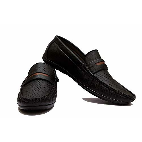 VON HUETTE Black Synthetic Slip On Casual Loafers