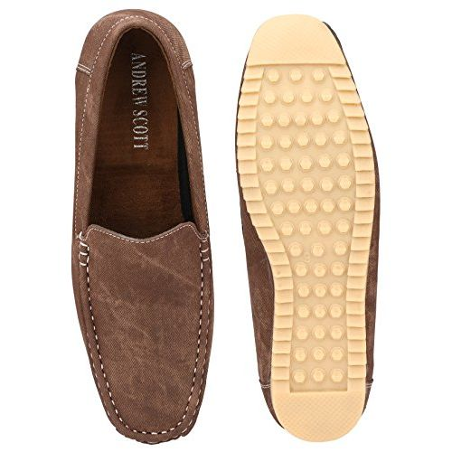 Andrew Scott Men's Brown Synthetic Leather Loafers - D-1Brown_8