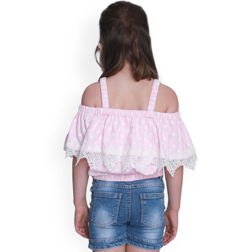 CUTECUMBER Girls Pink Printed Top