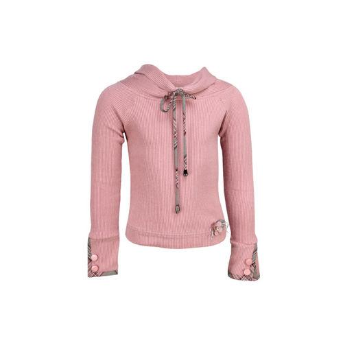 CUTECUMBER Girls Pink Self Design Top