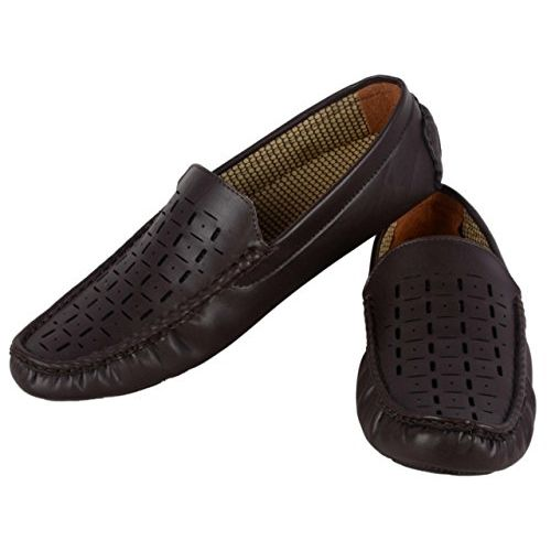 Floxtar Men's Brown Synthetic Loafers-9