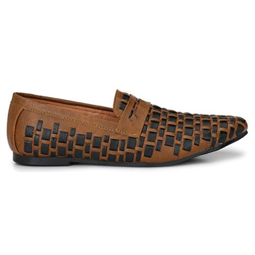 Andrew Scott Men's Tan Synthetic Leather Loafers - 004Tan_10
