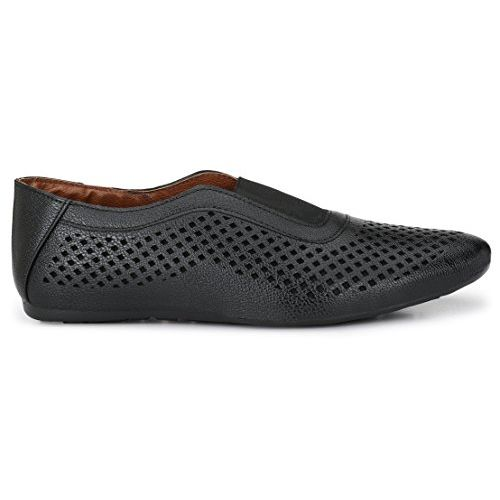 Andrew Scott Men's Black Synthetic Leather Loafers - 001Black_8