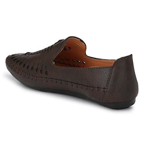 Andrew Scott Men's Brown Synthetic Leather Loafers - 002Brown_9