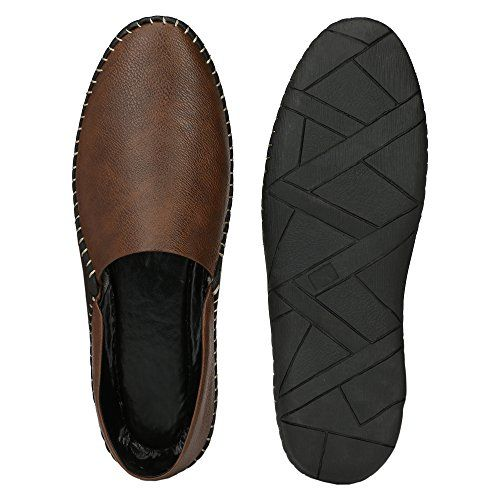 Restinfoot Men's Loafers 251 Synthetic Loafers/Casual Shoes/Shoes for Men's/Trendy Loafers/Stylish Loafers/Unique Loafers (8 UK/India (42 EU), Brown)