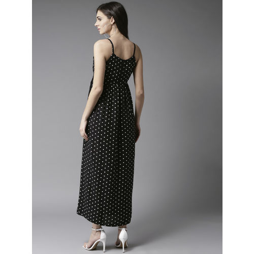Moda Rapido Women Black & White Printed Maxi Dress