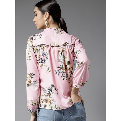 Moda Rapido Women Pink Printed Top
