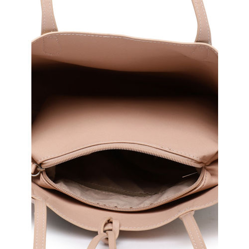 DressBerry Pink Printed Handheld Bag