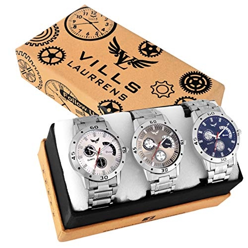 Vills Laurrens VL-1150+1113+1189 MultiColor Analogue Watches