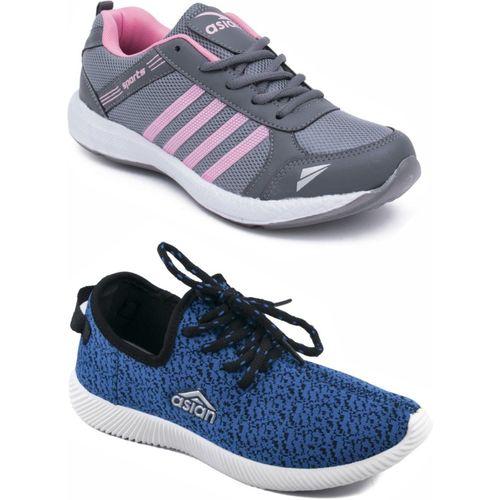 Asian Casual Shoes,Running Shoe,Walking Shoes,Loafres Casuals For Women(Grey, Blue)