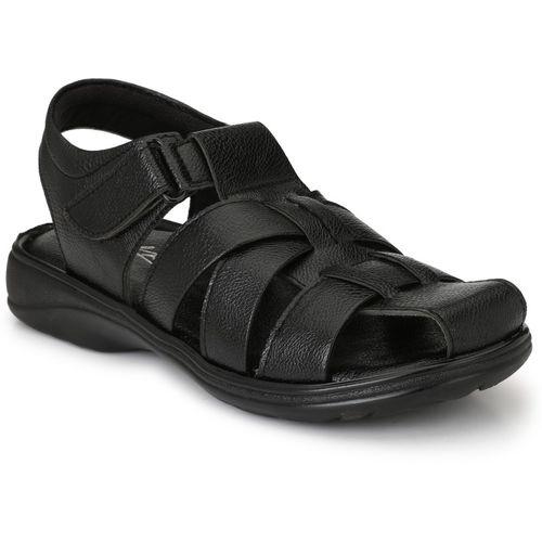 Knoos Men Black Sandals