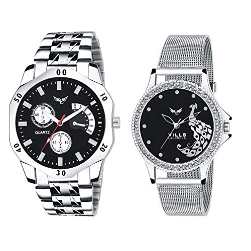 Vills Laurrens VL-1204+7140 Combo of 2 Analogue Watches for Men and Women