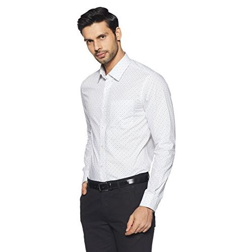 448fc00bfc6c ... Arrow Men's Printed Slim Fit Cotton Formal Shirt (AFVSH0314_44FS_White)  ...