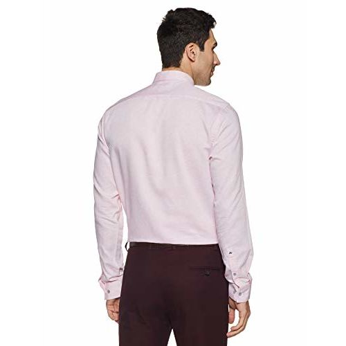 Arrow New York Arrow Newyork Men's Solid Slim Fit Formal Shirt (ANVSH1042_Pink_38FS)