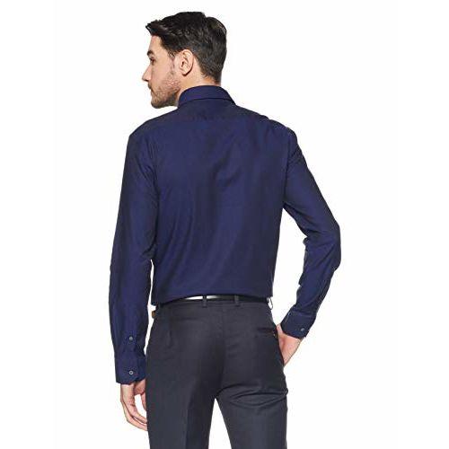 Arrow Men's Printed Slim Fit Formal Shirt (AFWSH0125_Blue_42)