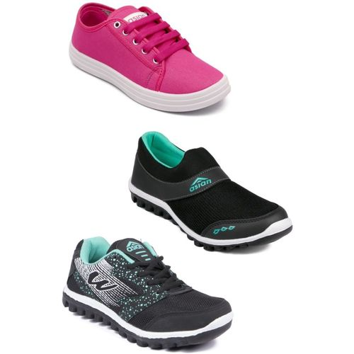 Asian Casual shoes,Running shoes,Walking shoes,Loafers,Sneakers,Traning shoes,Gym shoes. Running Shoes For Women(Grey, Black, Pink)