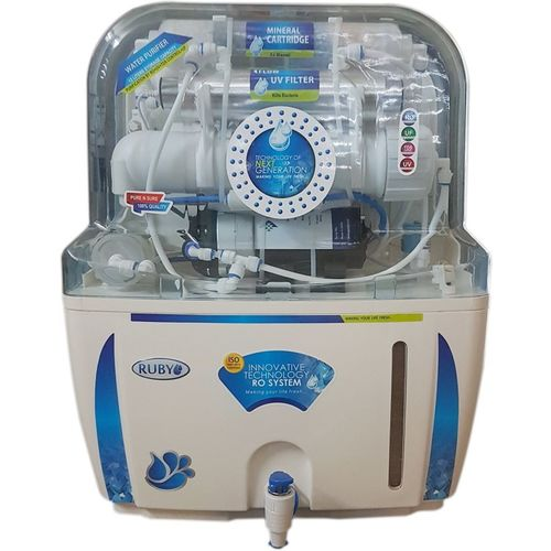 Ruby Electrical 12 L RO + UV Water Purifier(White and Blue)