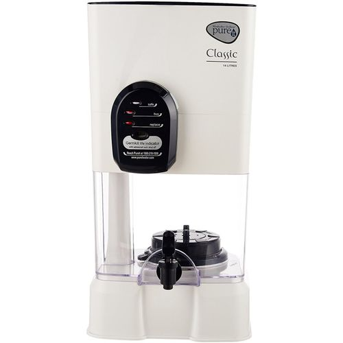 HUL PUREIT CLASSIC 14 L Gravity Based Water Purifier(White)