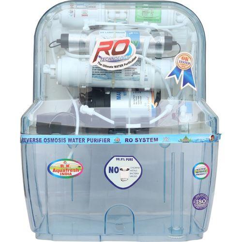 Rk Aquafresh India Az-14Stage Transparent 12 L RO + UV + UF Water Purifier(Transparent)