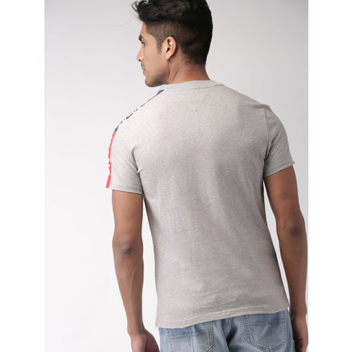 Tommy Hilfiger Men Grey Solid T-shirt