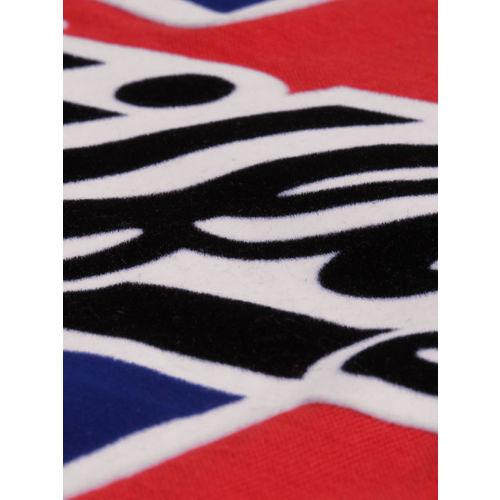 Tommy Hilfiger Men Red Printed Round Neck T-shirt