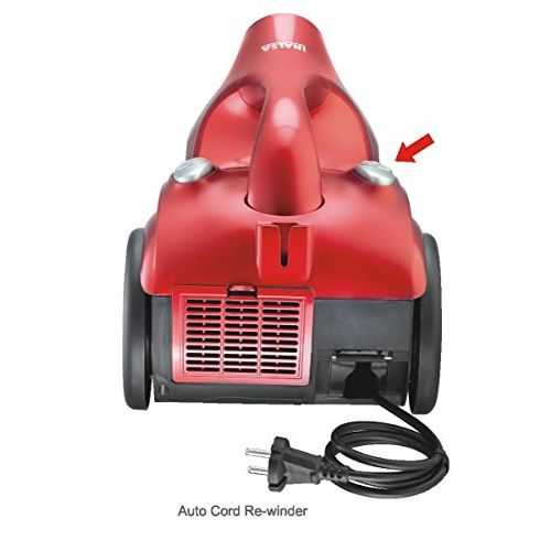 Inalsa Ultra Clean Cyclonic 1200 Watt Dry Vacuum Cleaner with 3.2 Long Cord (Red/Black)