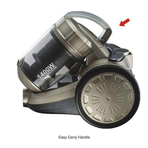 Inalsa Metal Supremo cyclonic 1400 Watt Vacuum Cleaner, 12.5 Inches, White