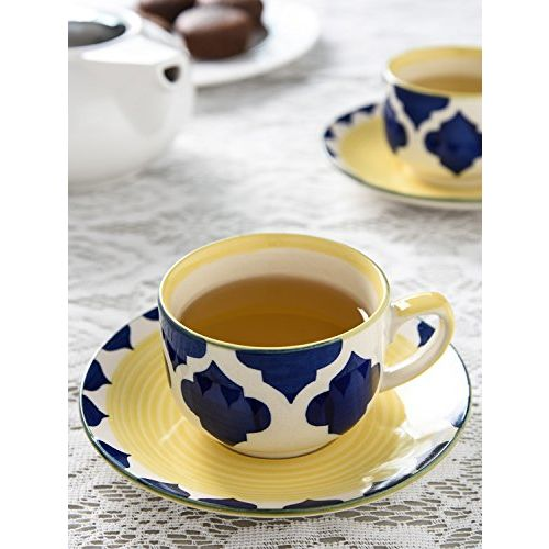 KITTENS Ceramic Handpainted Cup and Saucer - Set of 6