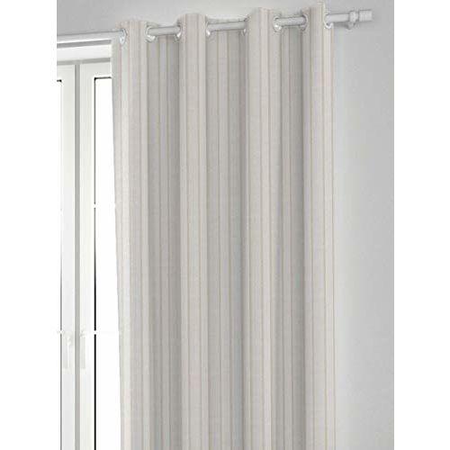 DDECOR Live beautiful Ddecor 5 Feet Window Orevita Stripe Jacquard Eyelet Curtain