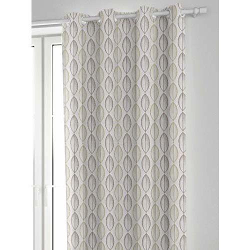 DDECOR Live beautiful Ddecor 5 Feet Window Artistic Leaves Jacquard Eyelet Curtain
