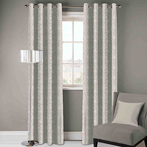 DDECOR Live beautiful D'Decor 1 Piece Polyester Eyelet Door Curtain - 7 Feet, Grey