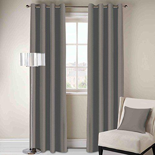 DDECOR Live beautiful D'Decor Eyelet Door Curtain (135x225cm, Grey)