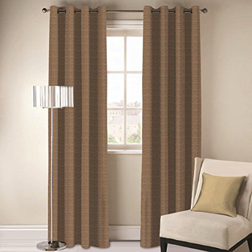 DDECOR Live beautiful D'Decor Eyelet Door Curtain - Brown