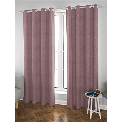 DDECOR Live beautiful Ddecor 5 Feet Window Bonita Pink Eyelet Curtain
