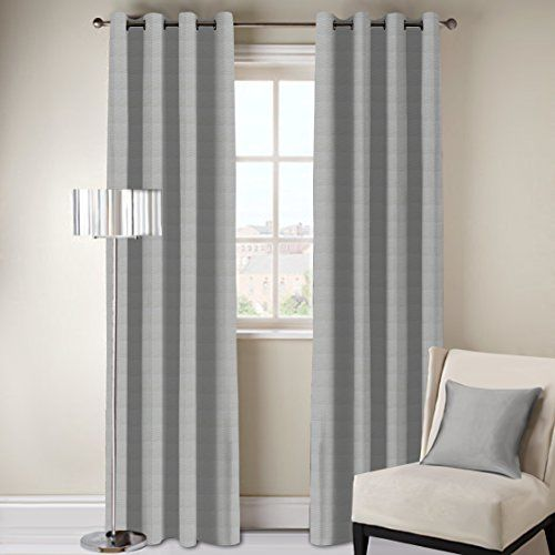 DDECOR Live beautiful D'Decor 1 Piece Polyester Eyelet Door Curtain - 7 Feet, Grey